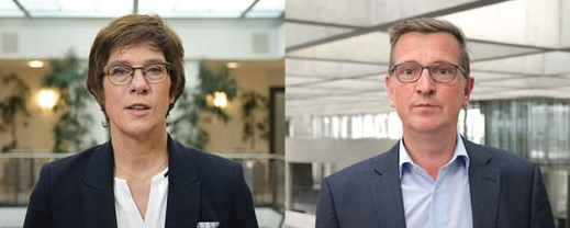 Annegret Kramp-Karrenbauer, DVV-Präsidentin, und Martin Rabanus, DVV-Vorsitzender