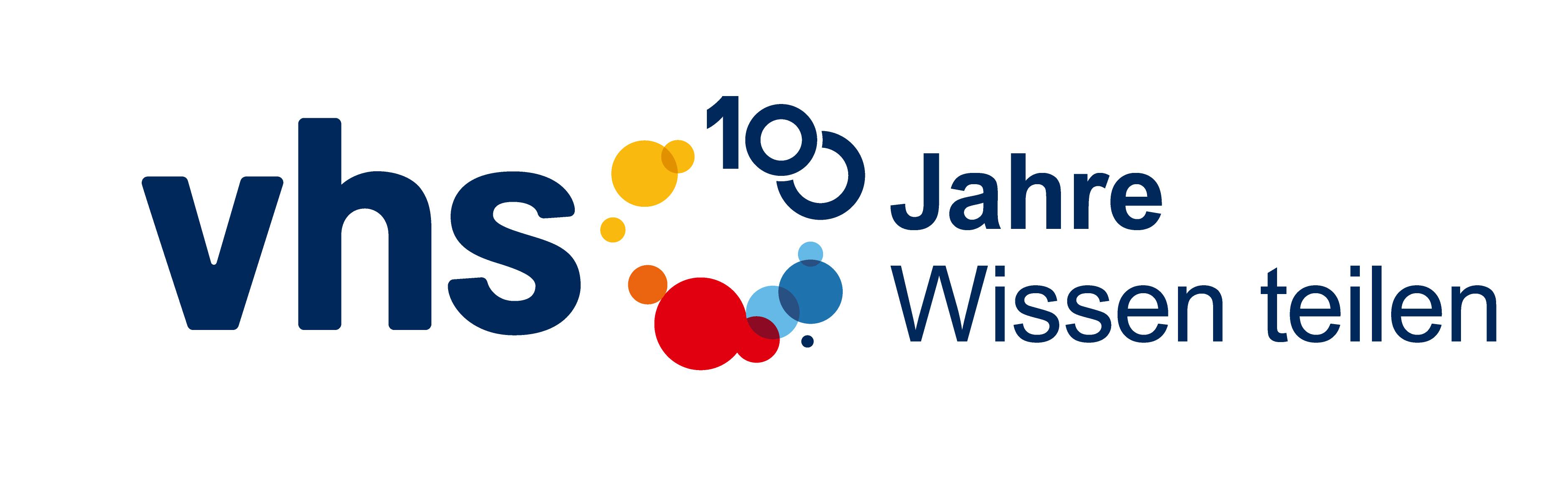 100 Jahre vhs Logo