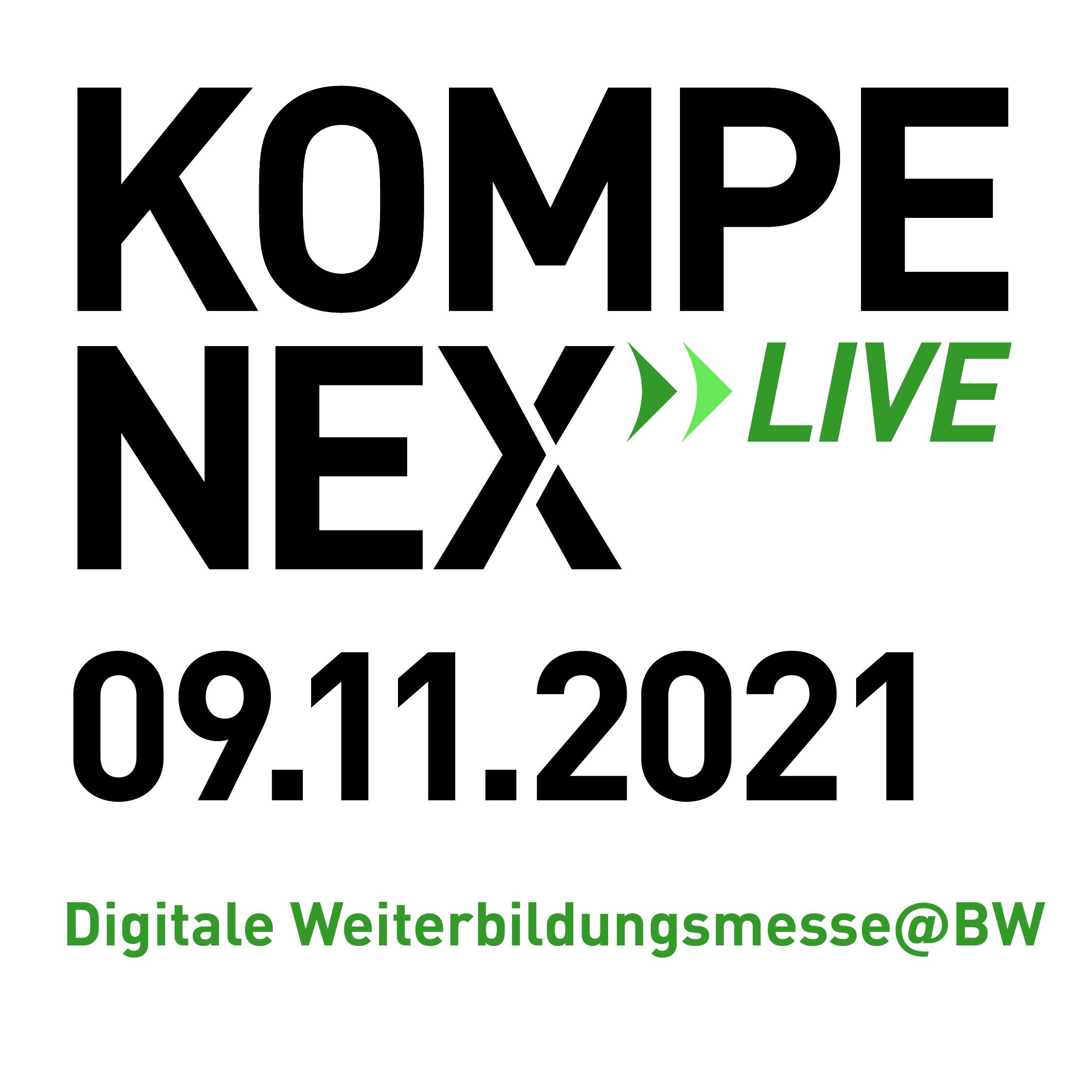 Digitaler vhs Messestand, am 09.11.21 auf der Online-Messe KOMPENEX»LIVE!